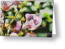 Roses At The Shrine Greeting Card