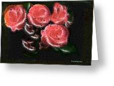Roses In The Rain Greeting Card