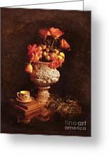 Roses In Urn Greeting Card