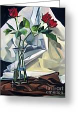 Roses Greeting Card by Lisa Dionne