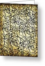 Roses Pattern Greeting Card by Setsiri Silapasuwanchai