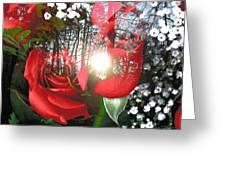 Rosesredred Greeting Card