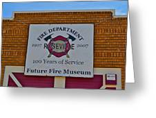 Roseville Fire Department Museum Greeting Card