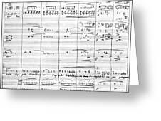 Rossini Manuscript Page Greeting Card