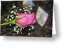 Rosy Reflections Greeting Card