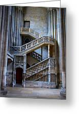 Rouen Cathedral Stairway Greeting Card