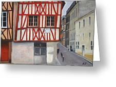 Rouen Street Corner Greeting Card