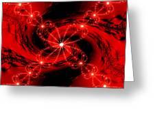 Rouge Et Noir Avec Blanc Greeting Card