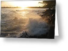 Roughwater Morning Greeting Card