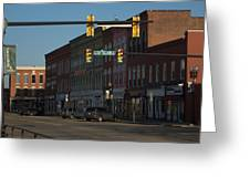 Round Town Spring 2 Greeting Card