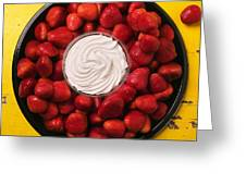 Round Tray Of Strawberries  Greeting Card