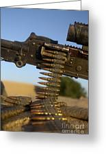 Rounds Of A M240 Machine Gun Greeting Card