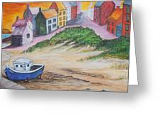 Roundstone Harbour  Greeting Card by Siobhan Lawson