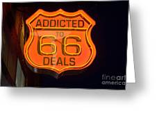 Route 66 Addicted Greeting Card