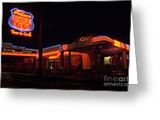 Route 66 At Night Greeting Card