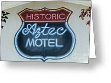 Route 66 Aztec Hotel Mural Greeting Card