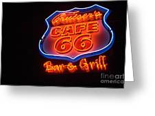Route 66 Bar And Grill Greeting Card