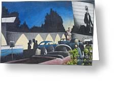 Route 66 Brandon Mural Greeting Card
