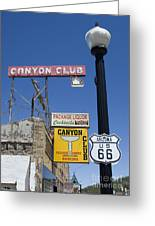 Route 66 Canyon Club Greeting Card