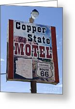 Route 66 Copper State Motel Greeting Card