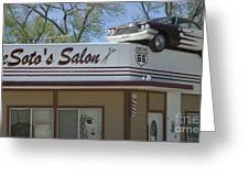 Route 66 Desotos Salon Greeting Card