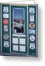 Route 66 Doorway Greeting Card
