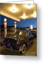 Route 66 Garage Scene Greeting Card