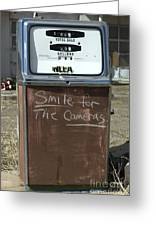 Route 66 Gas Pump Humor Greeting Card