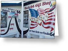 Route 66 Gift Shop Greeting Card