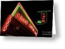Route 66 Grand Canyon Neon Greeting Card