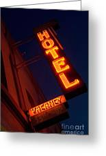 Route 66 Hotel Williams Greeting Card
