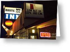 Route 66 Inn Greeting Card