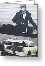 Route 66 Marlon Brando Mural Greeting Card