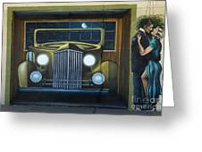 Route 66 Motel Mural Greeting Card