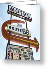 Route 66 Motel Sign 1 Greeting Card