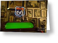 Route 66 Neon Sign 1 Greeting Card