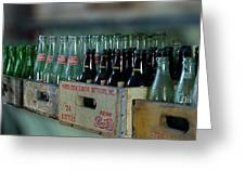 Route 66 Odell Il Gas Station Cases Of Pop Bottles Digital Art Greeting Card