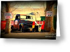 Route 66 Parking Lot Greeting Card