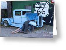 Route 66 Repair Shop Greeting Card