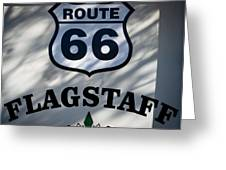 Route 66 Sign In Flagstaff Arizona Greeting Card
