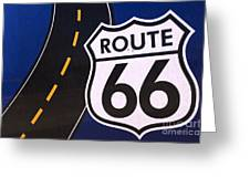 Route 66 Sign Winslow Arizona Greeting Card
