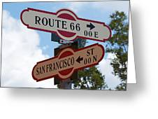 Route 66 Street Sign Greeting Card