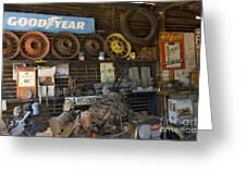 Route 66 Vintage Garage Greeting Card