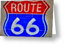 Route 66 Wall Art-2 Greeting Card