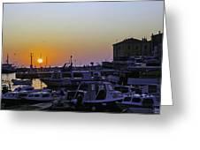 Rovinj Sunset Greeting Card