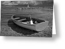 Row Boat On The Shore Of Lake Ontario In Toronto Greeting Card
