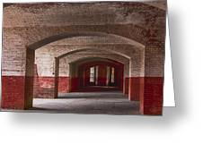 Row Of Arches Greeting Card by Garry Gay