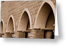 Row Of Arches Greeting Card