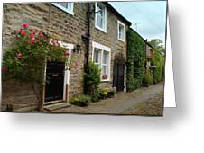 Row Of Cottages. Greeting Card