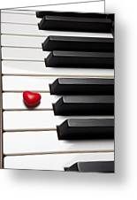 Row Of Piano Keys Greeting Card